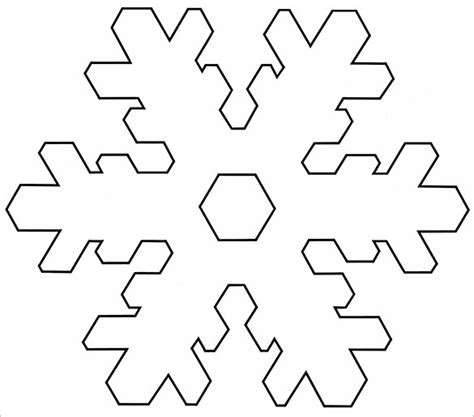 Printable Snowflake Template by 14 Free Snowflake Template Free Printable Word Pdf