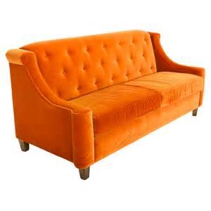 sofa orange orange sofa rentals event furniture rental formdecor