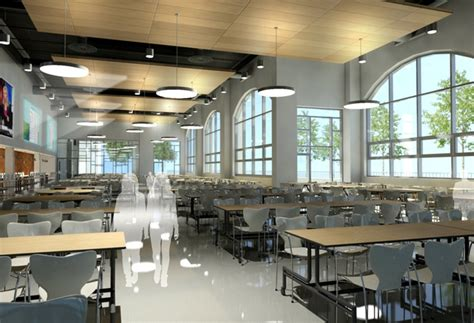 Prissilia Indiana Food Court Table dover high school cafeteria school spaces