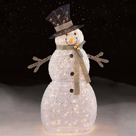 lighted snowman for outside trim a home 174 48 quot 150ct white snowman