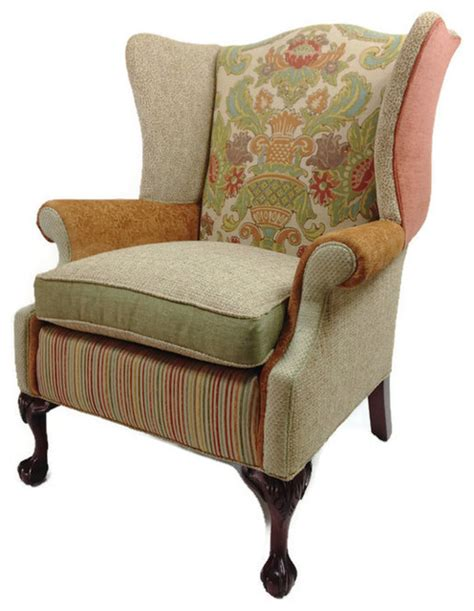 Eclectic Armchair by Wing Back Chair Eclectic Armchairs And Accent Chairs
