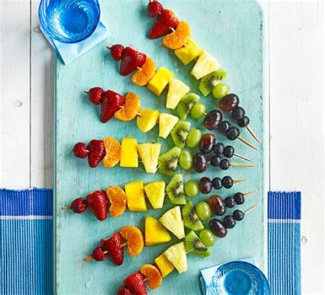 Lunch Animals Skewer rainbow fruit skewers recipe food