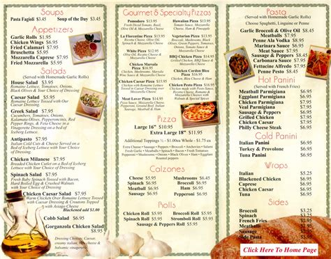 Noodles Italian Kitchen Menu by Menu For S Pizza Pasta 1571 S Federal Hwy