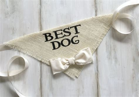 Best Dog   Wedding Dog Bandana with Bowtie   Products