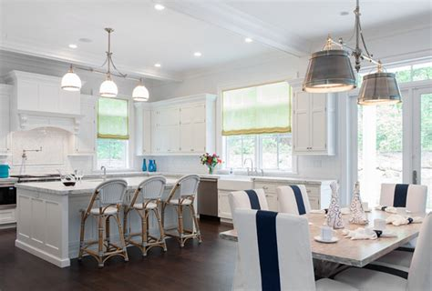 White Kitchen And Dining Room by Interior Design Ideas Home Bunch