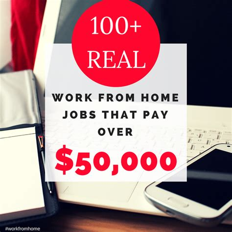 100 real work from home that pay 50k