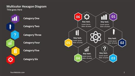 Multicolor Hexagon Powerpoint Diagram Slide Ocean Deloitte Powerpoint Template 2017