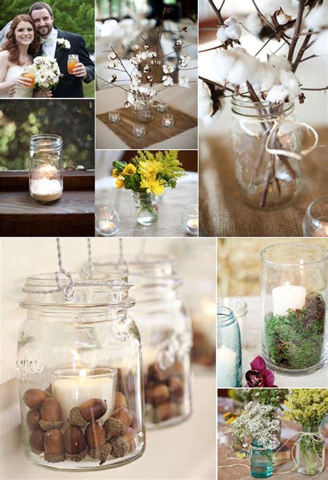 fall wedding decorations with jars jar ideas for weddings weddings by lilly