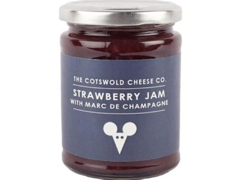 Jam Marc Soft Blue strawberry jam with marc de chagne the cotswold