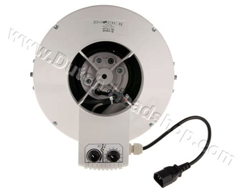 thermostat controlled exhaust fan extractor fan tubular with control and thermostat 355m3 s