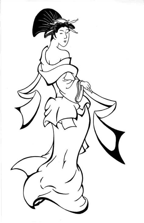 13 Images Of Geisha Mask Coloring Pages Geisha Coloring Geisha Coloring Pages