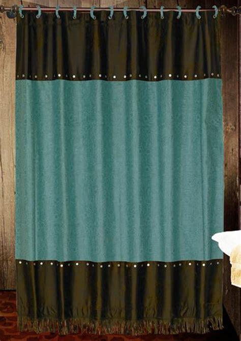 western star curtains western shower curtains cheyenne turquoise shower curtain