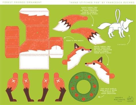 Fox Papercraft - fox cut out marionette paper crafts