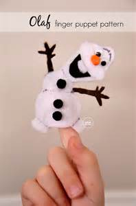 olaf printable puppet olaf finger puppet pattern the idea room