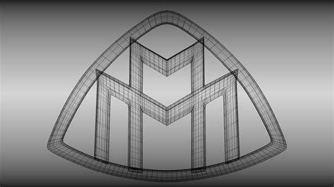 Maybach Logo 1 Tshirtkaosraglananak Oceanseven 1 maybach logo 3d model obj blend cgtrader