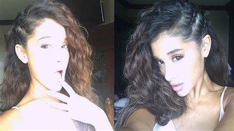 is ariana grande s hair real famous baby ariana grande reveals her baby hair