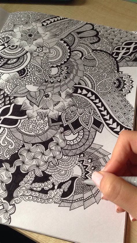 doodle zentangle zentangle ideas and mandalas to ease an agitated mind i