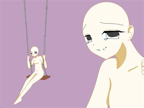 anime girl base sad anime girl base by tadahashi on deviantart