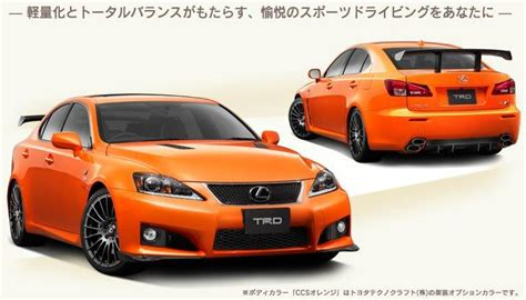 Lexus Isf Kit by Lexus Is F Trd Ccs Concept Performance Kit Available To