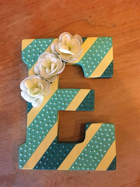diy craft letters diy wall painted wooden letter with stripes glitter