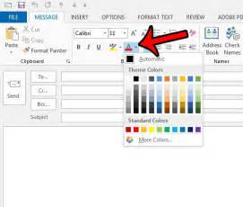 how to change color in outlook 2013 how to change the font color in outlook 2013 solve your tech