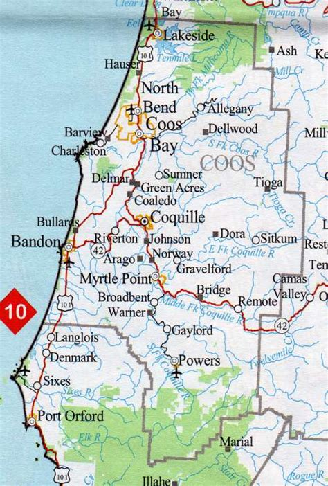 map of coos bay oregon coos county map oregon oregon hotels motels