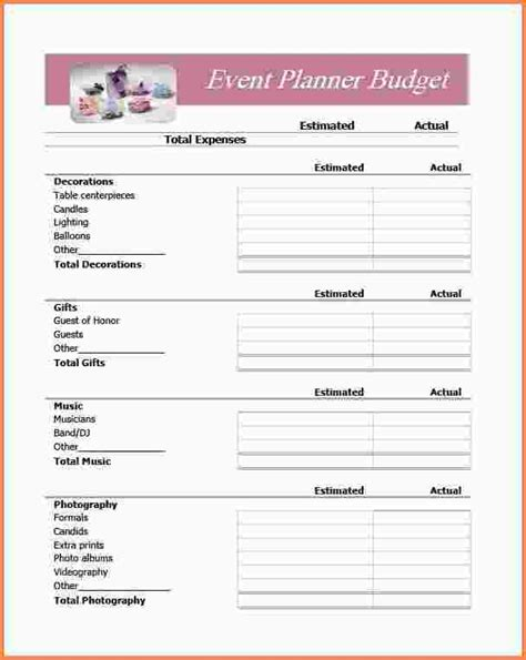 free epic wedding planning printable creative wedding co 5 event planner invoice template sles of invoices