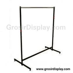 Gantungan Baju Model Gawangan Panjang 120cm Gratis Hanger 1 Lusin gawangan gantungan baju 120 cm kotak hitam besi kuat