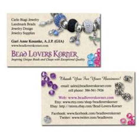 Handmade Jewelry Business Cards - bead korner puts spotlight on handcrafted beaded