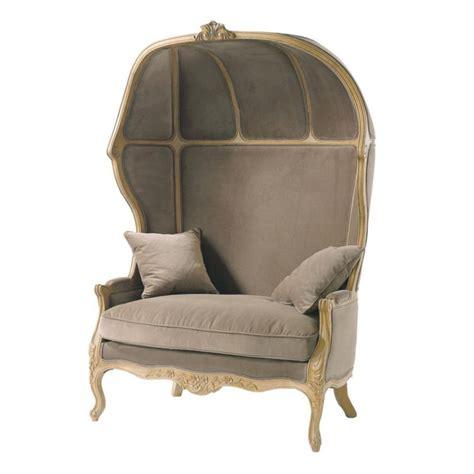 fauteuil velours taupe fauteuil velours taupe carrosse maisons du monde