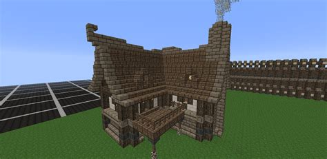 medieval house minecraft minecraft medieval house tutorial how to build a house youtube