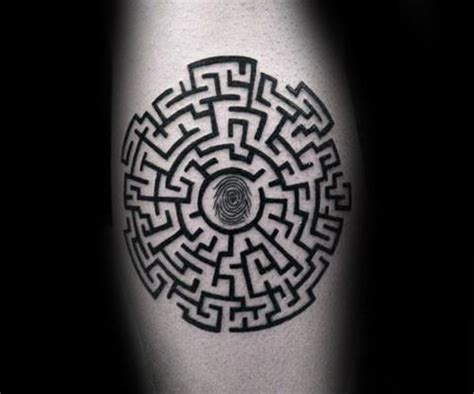 maze tattoo 70 maze designs for geometric puzzle ink ideas
