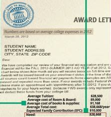 Saas Award Letter Explained 1000 Images About College Scholarships Usa Degreescape On College
