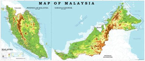 maps globe specialist distributor sdn bhd physical map of peninsular malaysia quotes