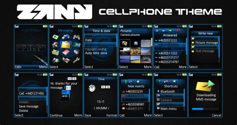 drawing themes for mobile phones zany cell phone theme by nischo on deviantart