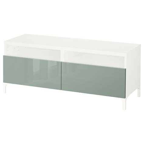 white bench with drawers best 197 tv bench with drawers white selsviken high gloss light grey green 120x40x48 cm ikea