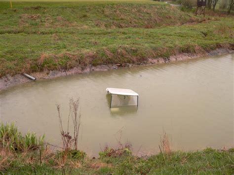 u boot im teich an bahn 8 nord gesichtet golfclub