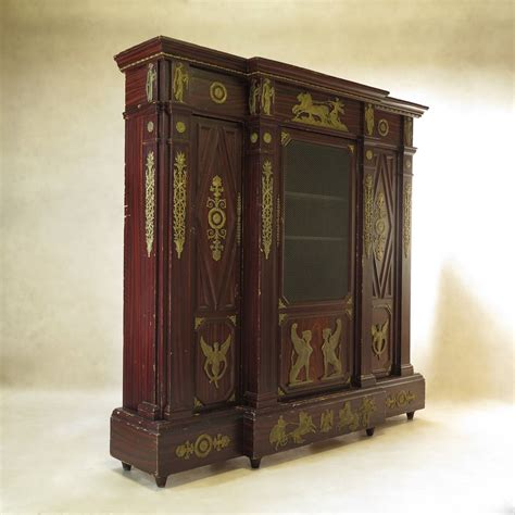 Quirky Bookcase Unusual Empire Style Bookcase France 19th Century For