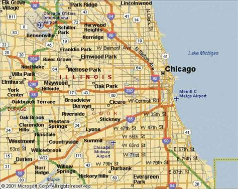 chicago map for chicago city map holidaymapq