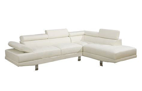 poundex white leather modern sectional sofa beautiful sectional sofas amazon 18 for your