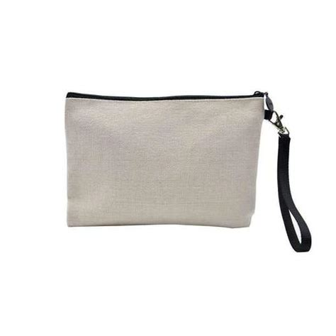 Zipped Cosmetic Pouch sublimation linen zipped cosmetic pouch
