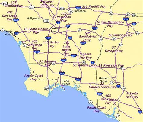 map of southern california freeways california map freeways