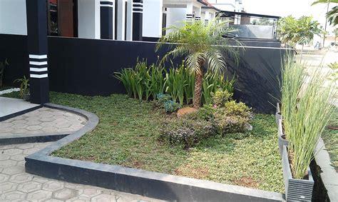 taman teras depan rumah minimalis lahan sempit desain tipe rumah