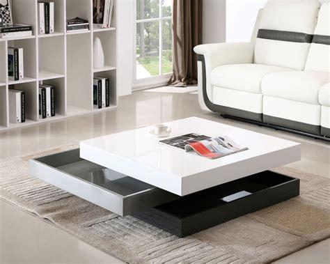 modern living room table modern rotating storage coffee table