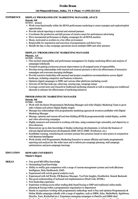 brand manager sle resume it marketing resume sle marketing resume sle resumes