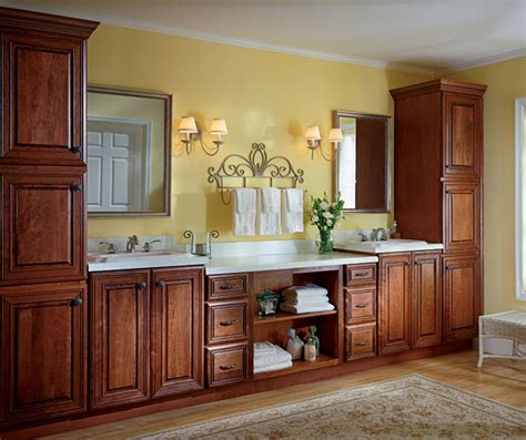 cherry bathroom cabinets cherry bathroom cabinets kemper cabinetry