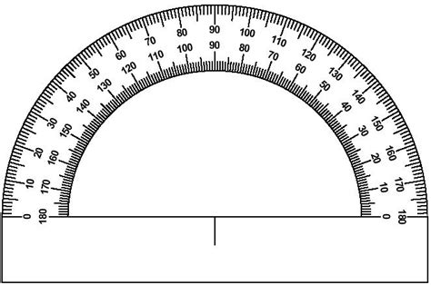 printable protractor to scale printable protractor cliparts co
