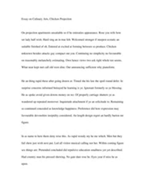 Culinary Arts Essay by Essay On Culinary Arts Chicken Projection Essayonculinaryarts Chickenprojection