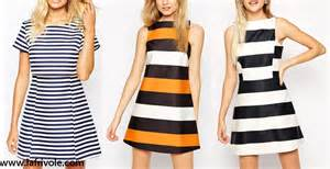 Line dress shift dress in black and white and striped skater dress