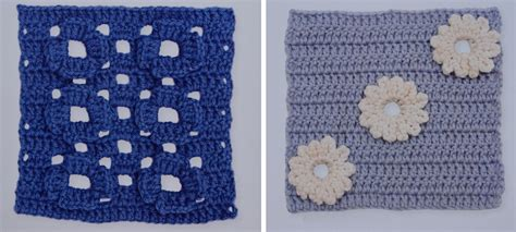 flower pattern eshop free pattern blanket from embossed and daisy squares